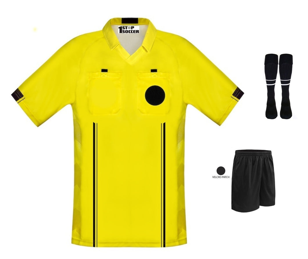 New Style Soccer Referee Jersey Free Shorts  & Socks