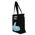 Black  Large 'Bearly There' Tote Bag