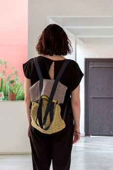 Upcycled Zero Waste Backpack + Tote