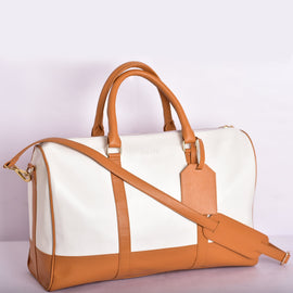 Tangerine Twist Weekender | Vegan Leather Duffle