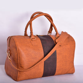 Dust Weekender | Vegan Leather Duffle in Rust