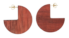 Hannes - Reclaimed Wood Earring