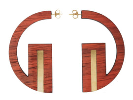 Joz - Reclaimed Wood Earring