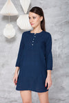 EMMA DRESS IN INDIGO MALKHA COTTON