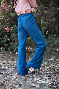 CECILIA PANTS IN INDIGO MALKHA COTTON