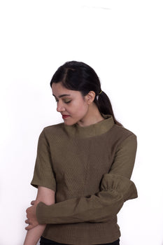 Organic Cotton Top with Detachable Sleeves