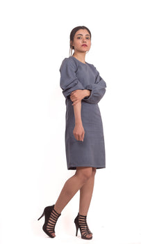 Organic Cotton Classic Grey Full Sleeves Dress