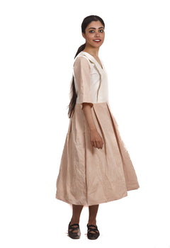 Organic Cotton Vintage Collar Dress