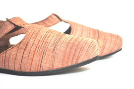 Ttoe: Orange | Upcycled Handcrafted Footwear