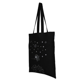 Black 'Houston we have a problem' Tote Bag