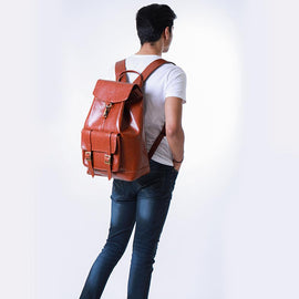 Explorer Backpack in Vegan Leather - Tan