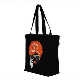 Black Large 'Last Season' Tote Bag