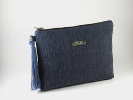 Recycled Paper Clutch | Navy