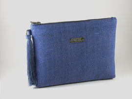 Recycled Paper Clutch | Blue