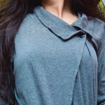 Charcoal Grey OVERLAP ORGANIC SHRUG