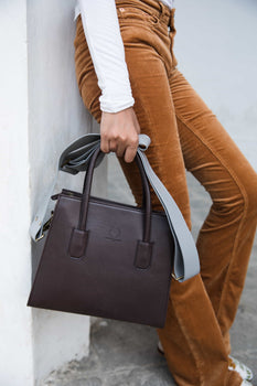 Trapeze Brown | Handcrafted Vegan Bags