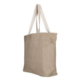 Large Jute-Cotton Tote Bag
