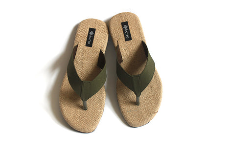 Flip Flop: Olive | Upcycled Handcrafted Footwear