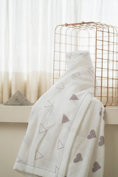 'Grace' Organic Cotton Blanket/ Dohar in Grey