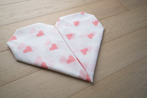 'Grace' Organic Cotton Swaddle in Pink