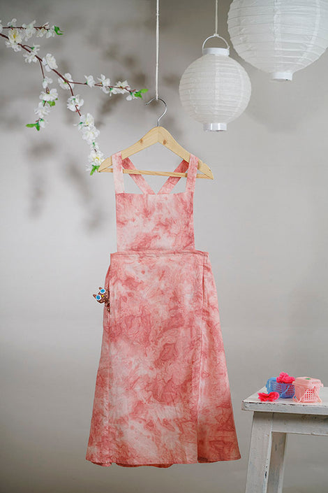 When I go for Hanami' pinafore maxi dress in tie and dye