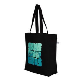 Black Large 'Save Our Seas'  Large Tote Bag