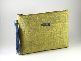 Recycled Paper Clutch | Yellow