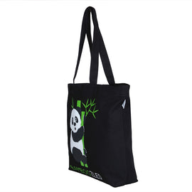 Black Large 'Bamboozled Panda' Tote Bag