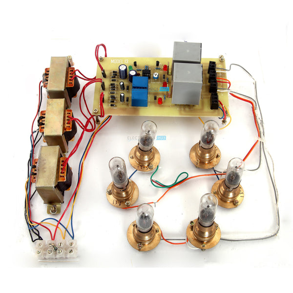 Automatic Star Delta Starter using Relays and Adjustable Electronic Timer for Induction Motor