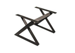 Abstract X Steel Coffee Table Base
