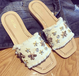 Bee Happy Denim Sandles