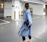 Blue Lagoon Denim Trench Coat
