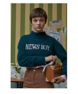 News Boy Crop Sweater