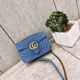 Lille Denim Pearl Crossbody