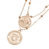 Golden Coin Necklace Set