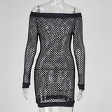 Kylie Fishnet Dress