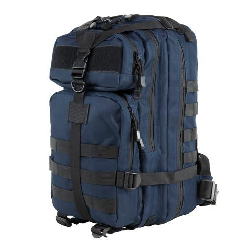 Small Backpack - Blue w-Black Trim