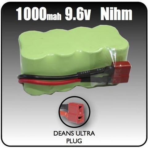 1000mah 9.6 Volt Nihm 8 cell Battery