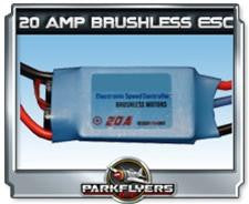 Parkflyers 20 Amp Brushless ESC