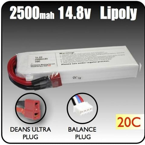 2500mah 14.8 Volt Lipoly Battery