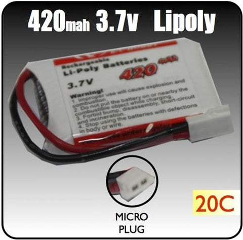 420mah 3.7 Volt Lipoly Battery