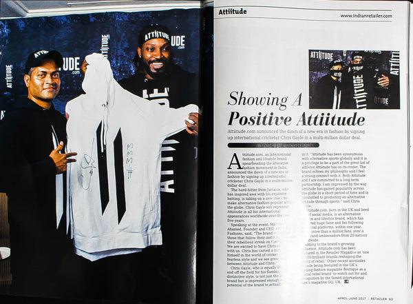 Showing A Positive Attiitude - Published by Retailer Magazine
