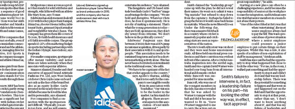 Attiitude.com's story featured in Hindustan Times LIVE MINT's Sports, brands and the power of association