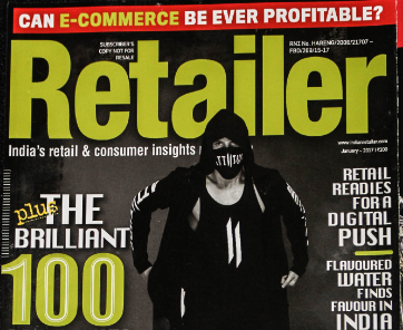 Cover story of Retailer magazine