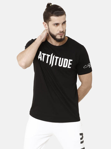 Black V-Neck T-Shirt With Double I Logo On Chest