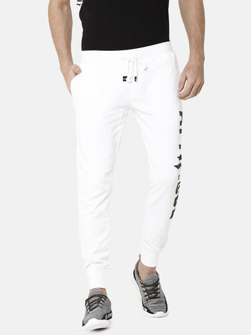 Dark-Grey With White Color Block Jogger With Attiitude Logo