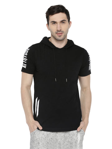 Attiitude printed Sleeve white zipper hoodies