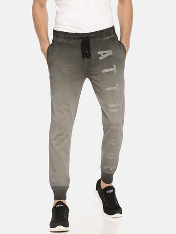 Dark Grey With White Colour Block Jogger