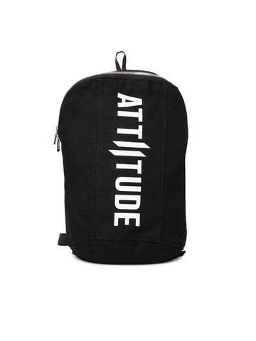ATTIITUDE HOLLOW LOGO PRINTED BLACK VEST