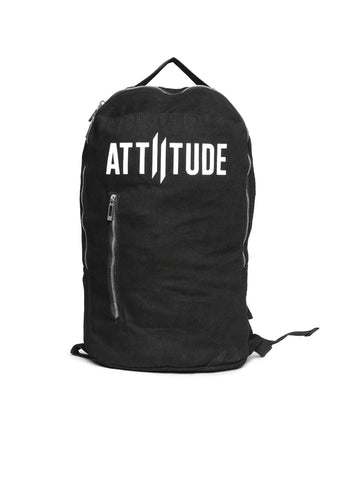 ATTIITUDE HOLLOW LOGO PRINTED BLACK VEST AND CAP